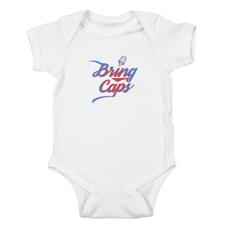 Red & Blue Gradient Bring Caps Graffiti Streetwear V2 Kids Baby Bodysuit by Coma Free Urban Art & Design
