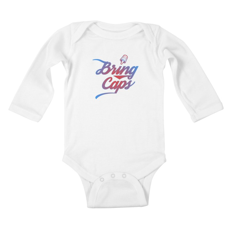 Red & Blue Gradient Bring Caps Graffiti Streetwear V2 Kids Baby Longsleeve Bodysuit by Coma Free Urban Art & Design