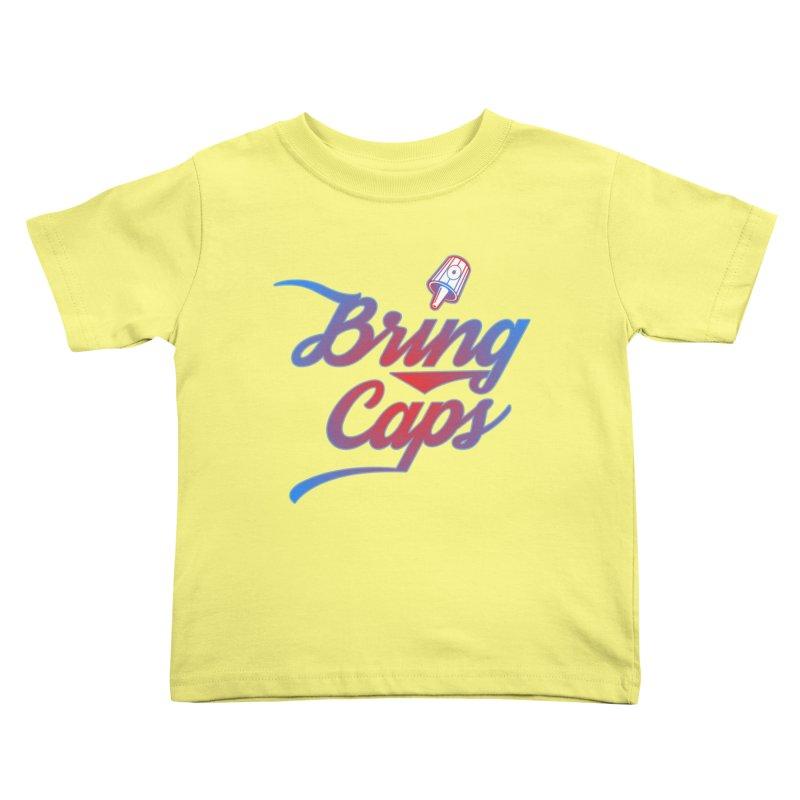 Red & Blue Gradient Bring Caps Graffiti Streetwear V2 Kids Toddler T-Shirt by Coma Free Urban Art & Design