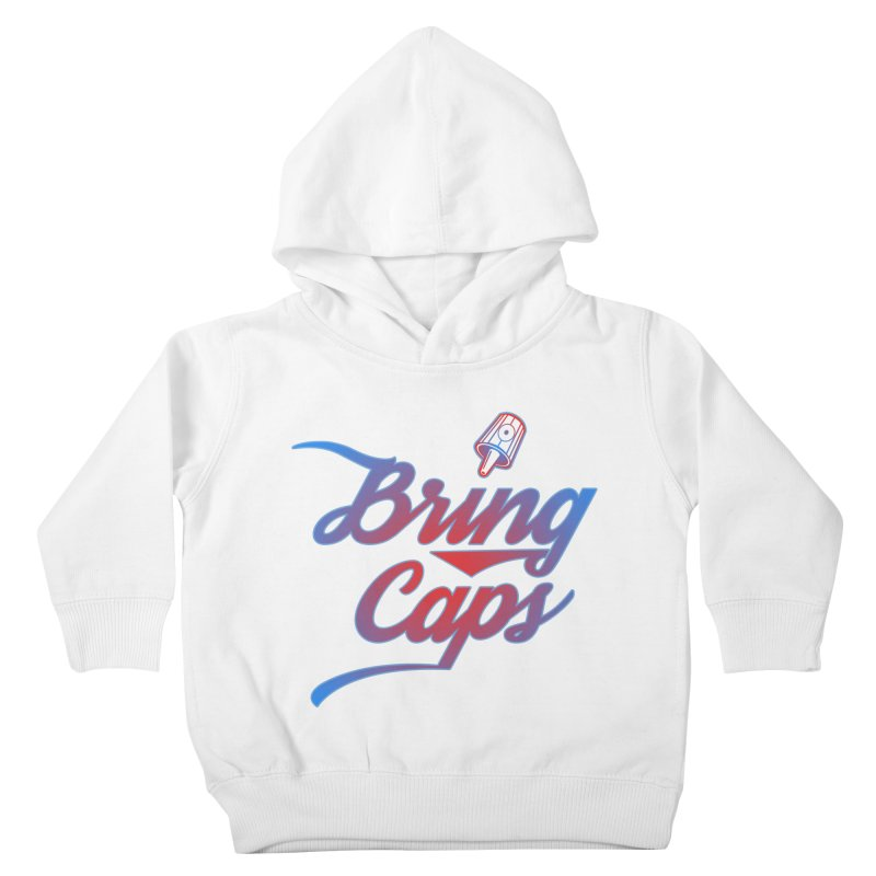 Red & Blue Gradient Bring Caps Graffiti Streetwear V2 Kids Toddler Pullover Hoody by Coma Free Urban Art & Design