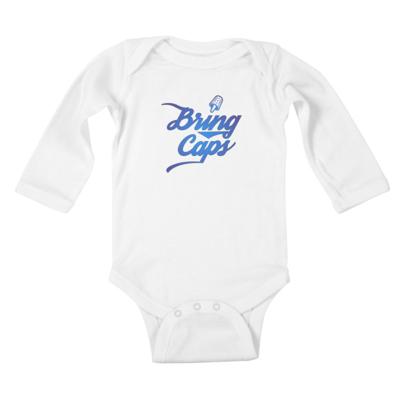 Blue Gradient Bring Caps Graffiti Streetwear V3 Kids Baby Longsleeve Bodysuit by Coma Free Urban Art & Design