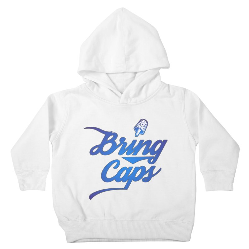 Blue Gradient Bring Caps Graffiti Streetwear V3 Kids Toddler Pullover Hoody by Coma Free Urban Art & Design