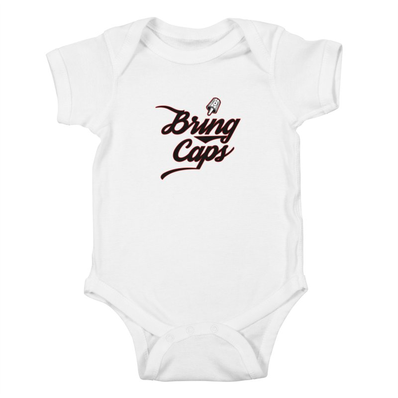 Black & Red Bring Caps Graffiti Streetwear V4 Kids Baby Bodysuit by Coma Free Urban Art & Design