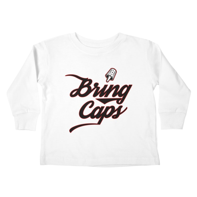 Black & Red Bring Caps Graffiti Streetwear V4 Kids Toddler Longsleeve T-Shirt by Coma Free Urban Art & Design