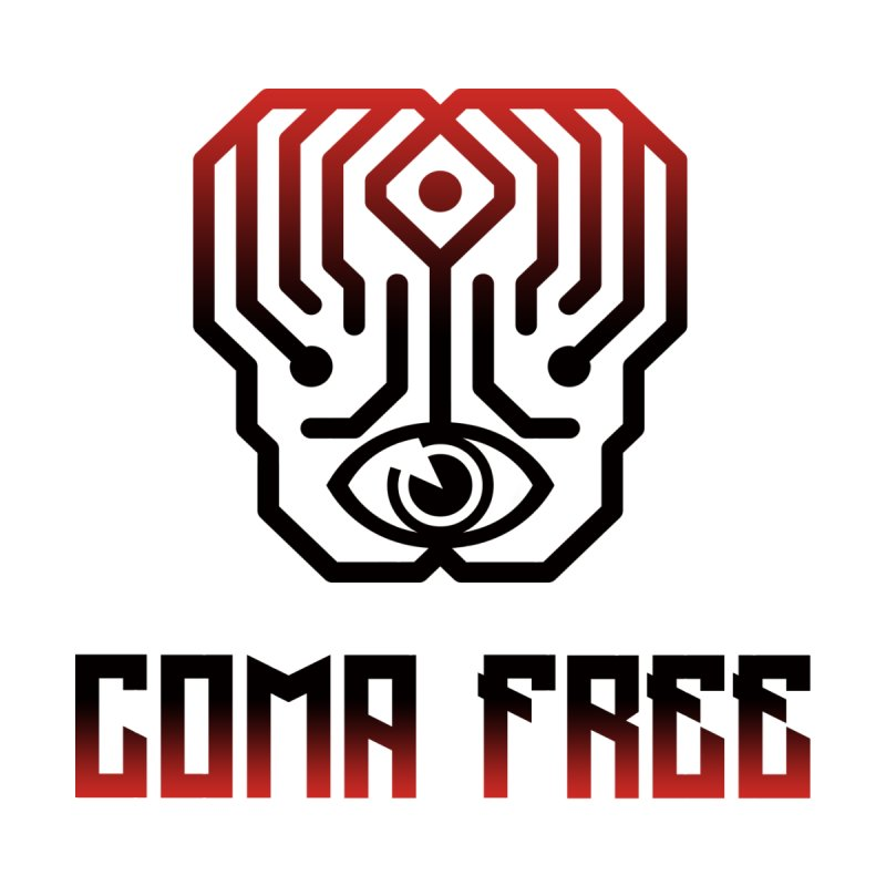 Red and Black Gradient Coma Free Streetwear Design Men's T-Shirt by Coma Free Urban Art & Design