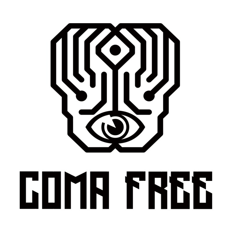 Black Coma Free Streetwear Design Men's T-Shirt by Coma Free Urban Art & Design