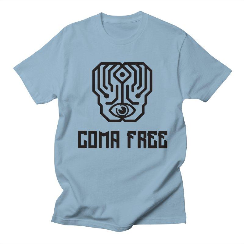 Black Coma Free Streetwear Design Men's T-Shirt by Coma Free Urban Art & Design