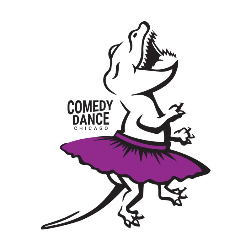 CDC T-Rex (purple) Accessories Mug by Comedy Dance Chicago