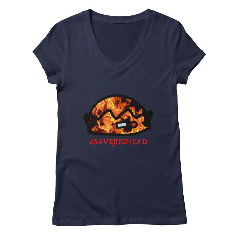 #SaveJughead Women's Regular V-Neck by Comic Book Club Official Shop