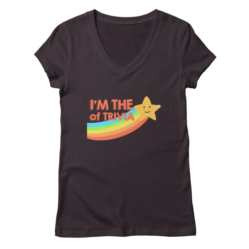 The Star of Trivia Women's Regular V-Neck by Comic Book Club Official Shop