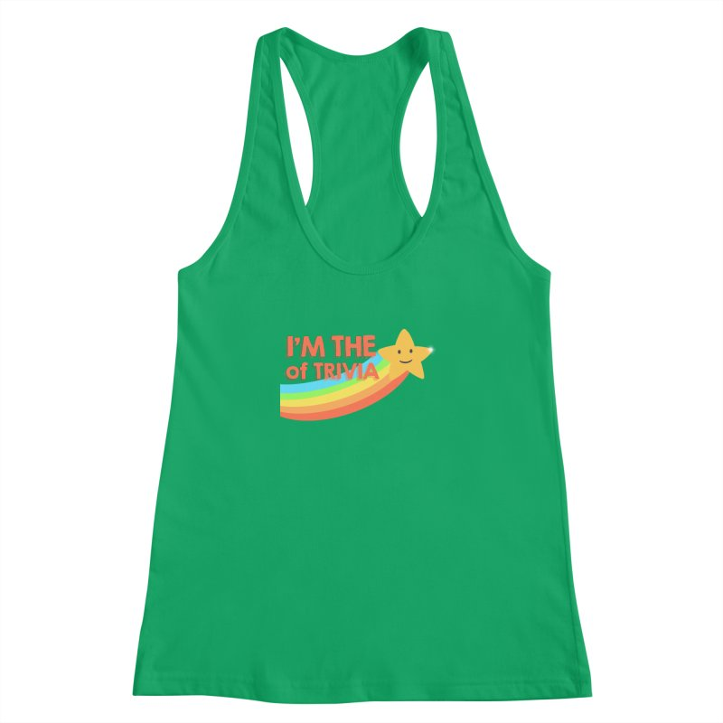 The Star of Trivia Women's Racerback Tank by Comic Book Club Official Shop