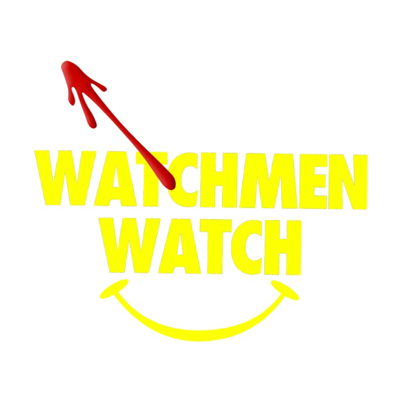 Watchmen Watch - Yellow on Black Men's V-Neck by Comic Book Club Official Shop