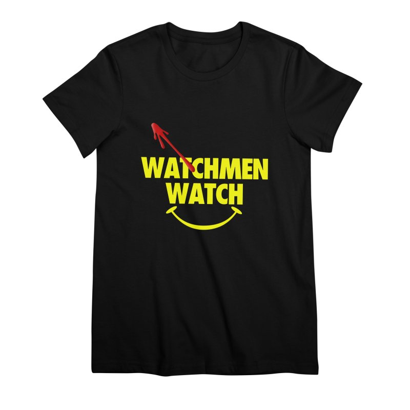 Watchmen Watch - Yellow on Black Women's Premium T-Shirt by Comic Book Club Official Shop