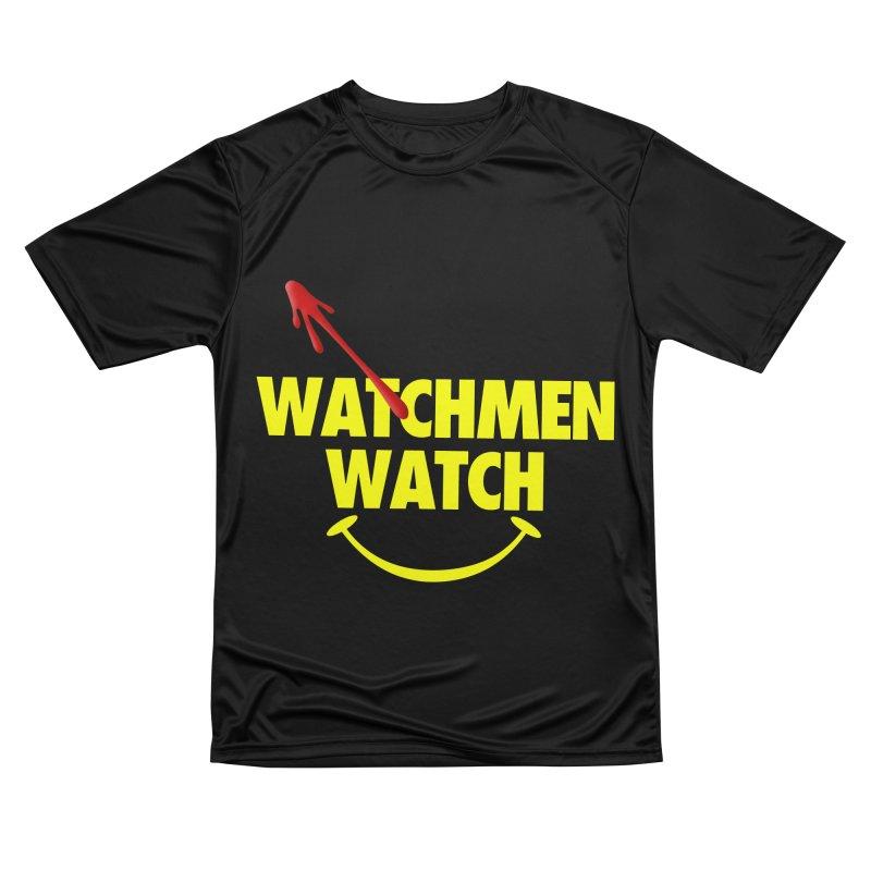 Watchmen Watch - Yellow on Black Men's T-Shirt by Comic Book Club Official Shop