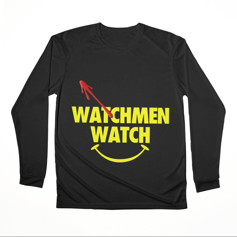 Watchmen Watch - Yellow on Black Women's Longsleeve T-Shirt by Comic Book Club Official Shop