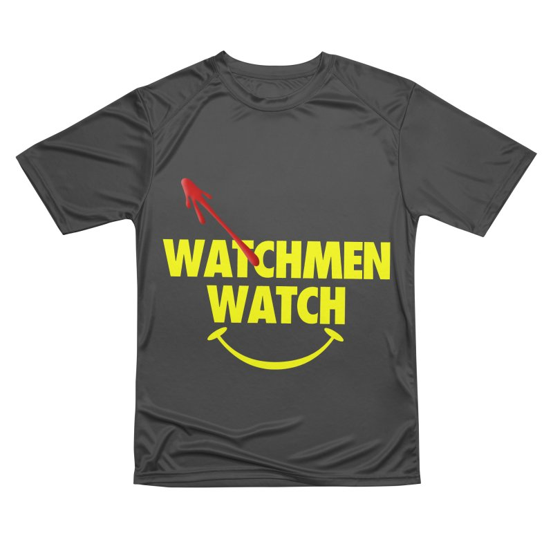 Watchmen Watch - Yellow on Black Women's Performance Unisex T-Shirt by Comic Book Club Official Shop