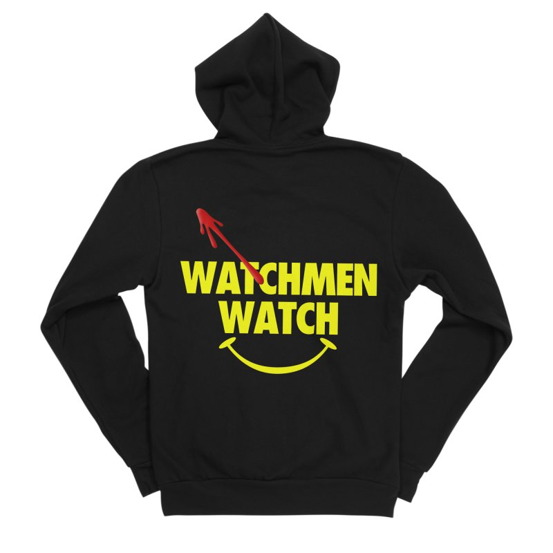 Watchmen Watch - Yellow on Black Men's Zip-Up Hoody by Comic Book Club Official Shop