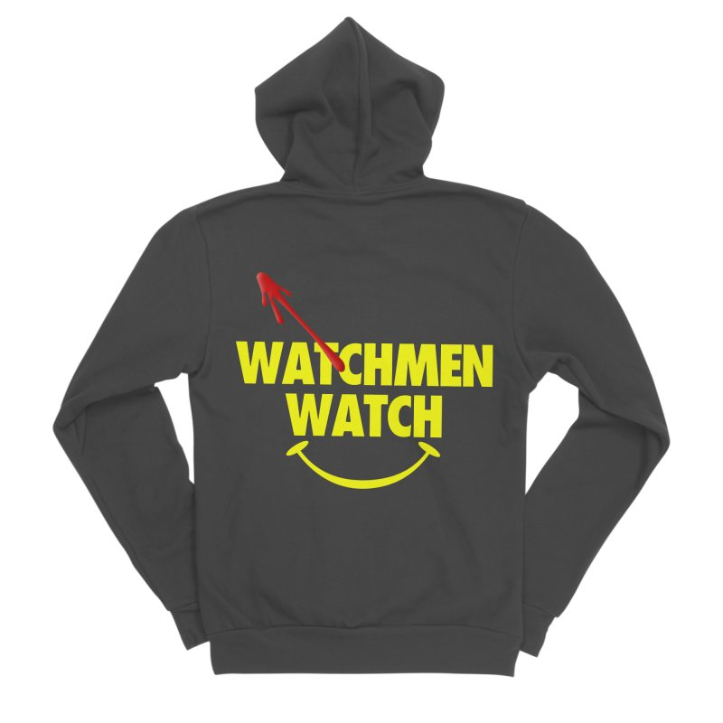Watchmen Watch - Yellow on Black Men's Sponge Fleece Zip-Up Hoody by Comic Book Club Official Shop