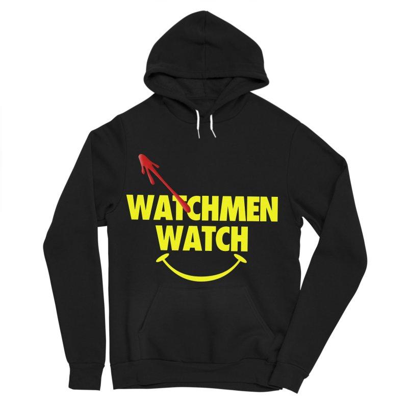 Watchmen Watch - Yellow on Black Men's Sponge Fleece Pullover Hoody by Comic Book Club Official Shop