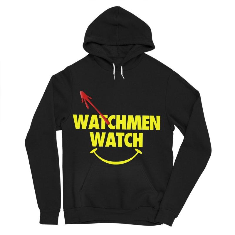 Watchmen Watch - Yellow on Black Women's Sponge Fleece Pullover Hoody by Comic Book Club Official Shop