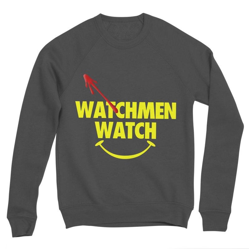 Watchmen Watch - Yellow on Black Women's Sponge Fleece Sweatshirt by Comic Book Club Official Shop