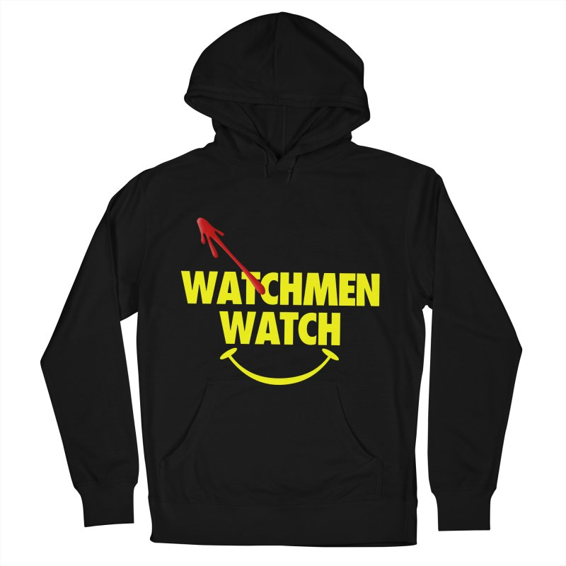 Watchmen Watch - Yellow on Black Men's French Terry Pullover Hoody by Comic Book Club Official Shop