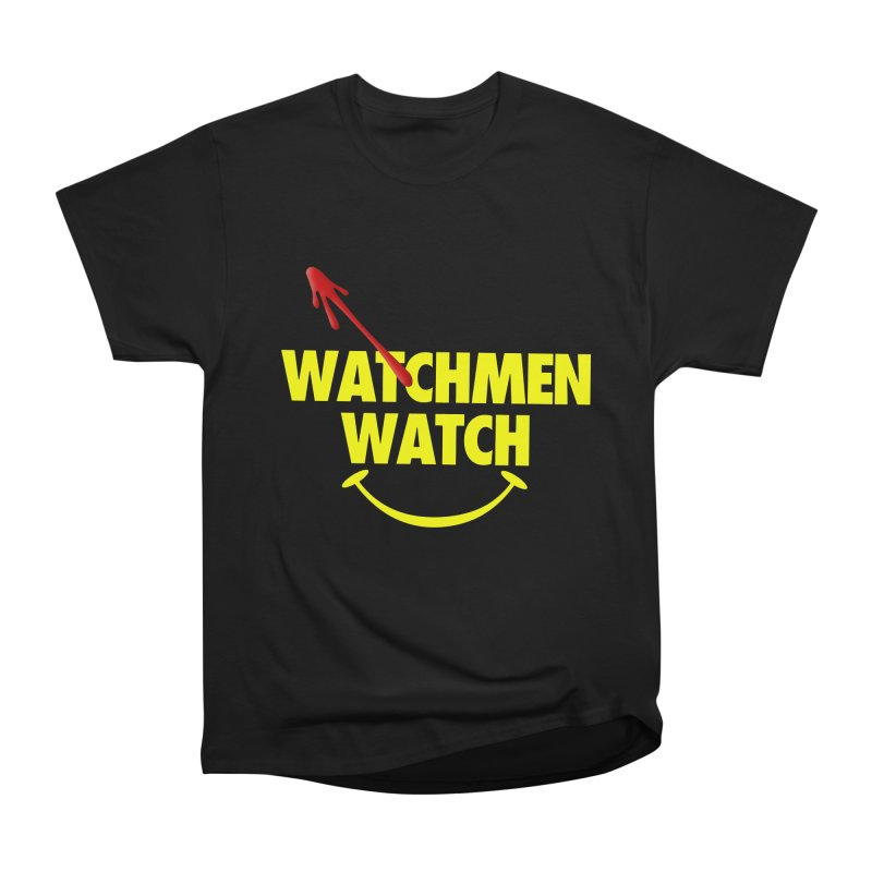 Watchmen Watch - Yellow on Black Men's Heavyweight T-Shirt by Comic Book Club Official Shop
