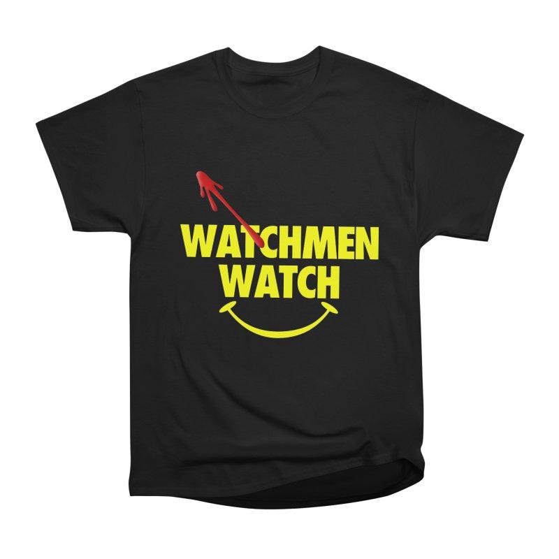 Watchmen Watch - Yellow on Black Women's Heavyweight Unisex T-Shirt by Comic Book Club Official Shop