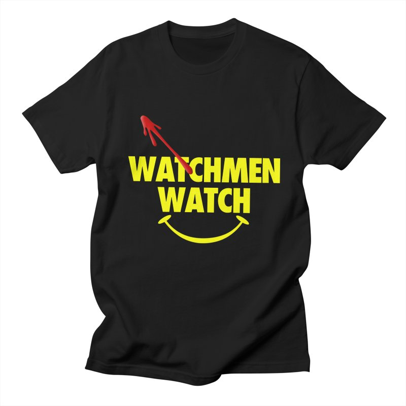 Watchmen Watch - Yellow on Black Men's Regular T-Shirt by Comic Book Club Official Shop