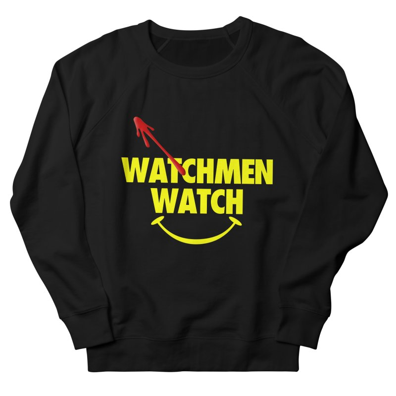Watchmen Watch - Yellow on Black Women's French Terry Sweatshirt by Comic Book Club Official Shop