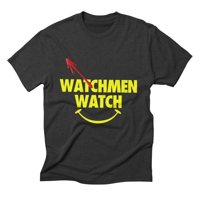 Watchmen Watch - Yellow on Black Men's T-Shirt by Comic Book Club Official Shop