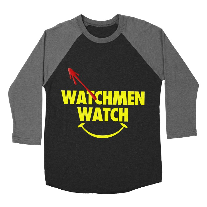 Watchmen Watch - Yellow on Black Men's Baseball Triblend Longsleeve T-Shirt by Comic Book Club Official Shop