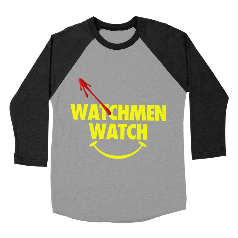 Watchmen Watch - Yellow on Black Men's Baseball Triblend Longsleeve T-Shirt by Comic Book Club Official Shop