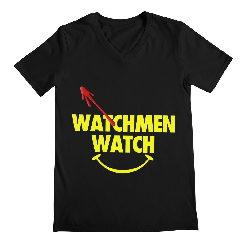 Watchmen Watch - Yellow on Black Men's Regular V-Neck by Comic Book Club Official Shop