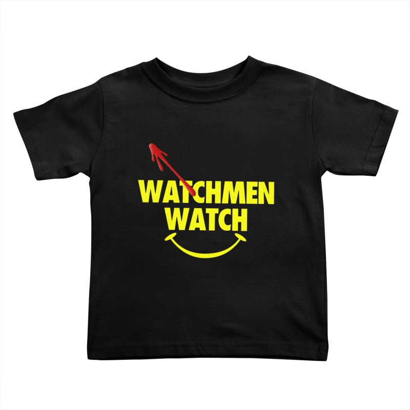 Watchmen Watch - Yellow on Black Kids Toddler T-Shirt by Comic Book Club Official Shop