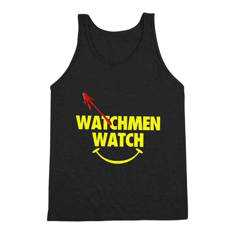 Watchmen Watch - Yellow on Black Men's Triblend Tank by Comic Book Club Official Shop