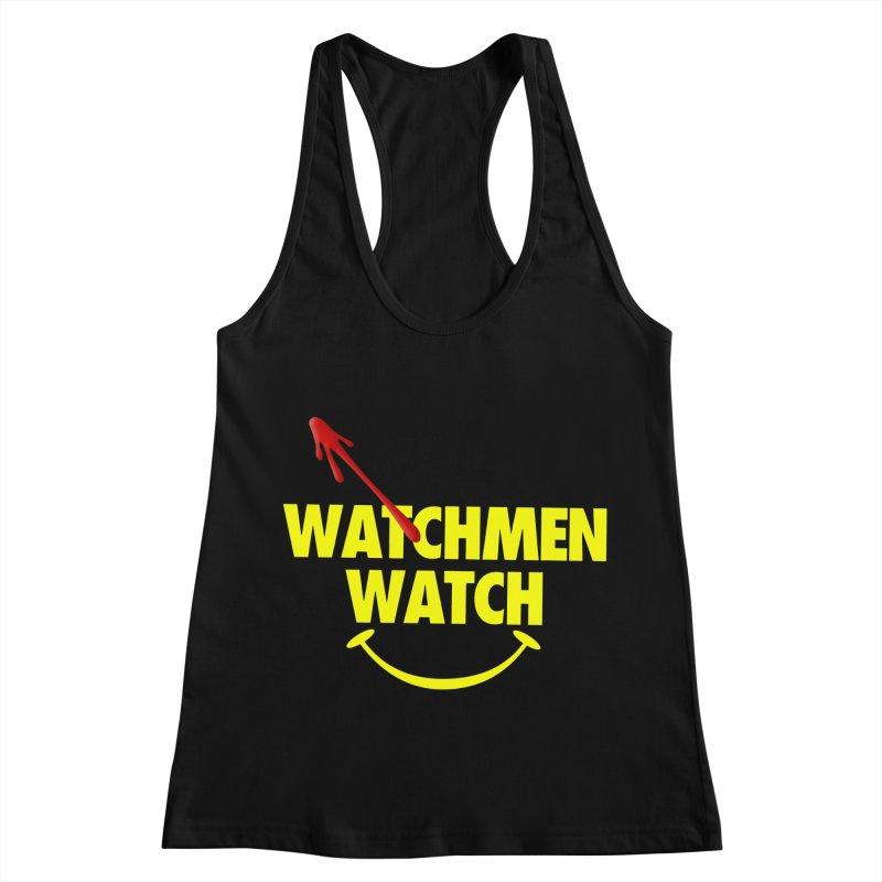Watchmen Watch - Yellow on Black Women's Racerback Tank by Comic Book Club Official Shop
