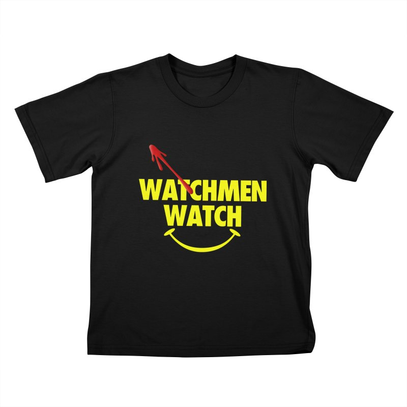 Watchmen Watch - Yellow on Black Kids T-Shirt by Comic Book Club Official Shop