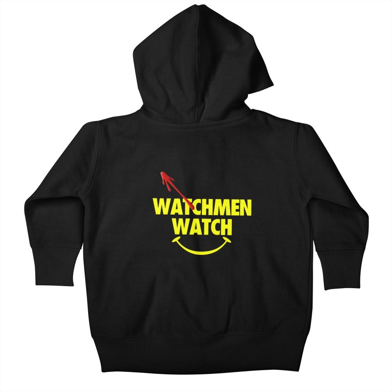 Watchmen Watch - Yellow on Black Kids Baby Zip-Up Hoody by Comic Book Club Official Shop