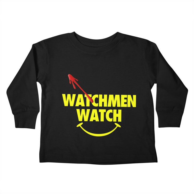 Watchmen Watch - Yellow on Black Kids Toddler Longsleeve T-Shirt by Comic Book Club Official Shop