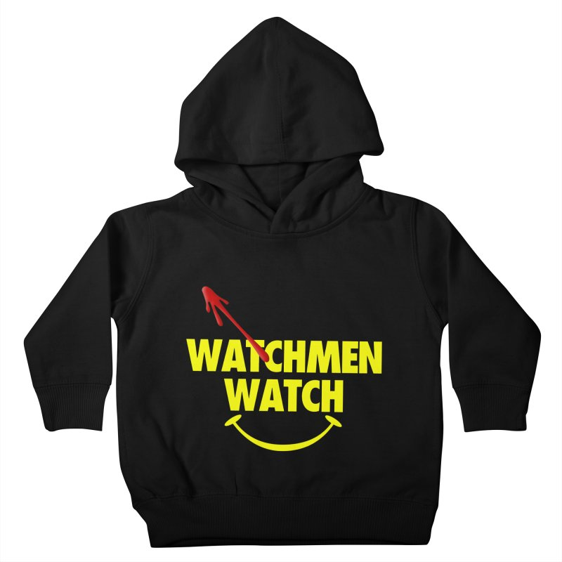 Watchmen Watch - Yellow on Black Kids Toddler Pullover Hoody by Comic Book Club Official Shop