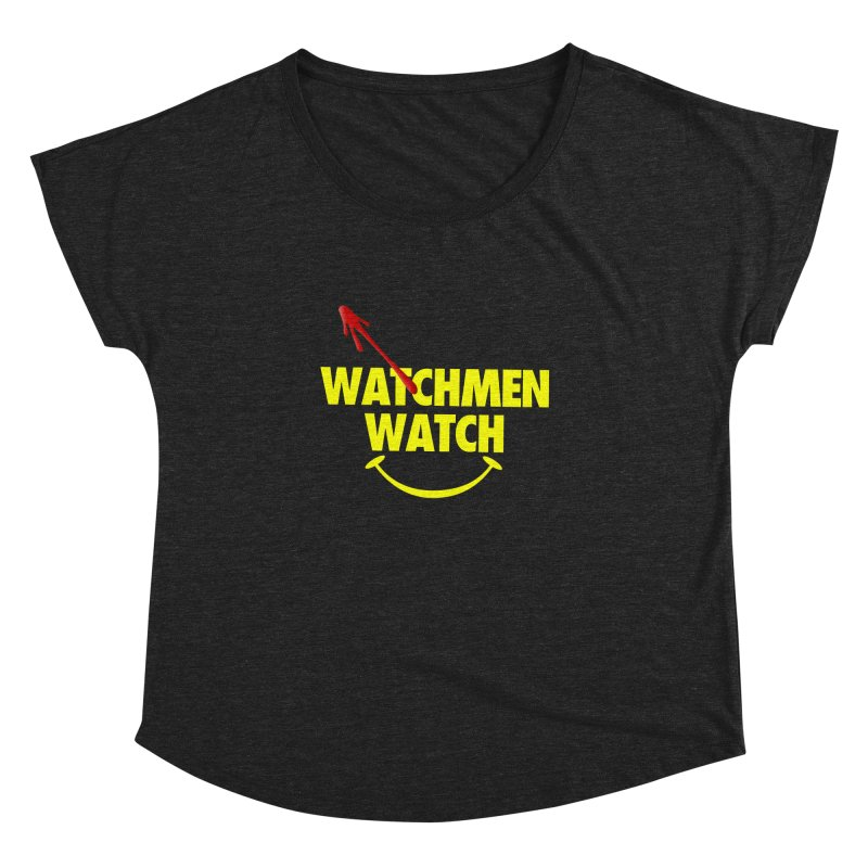 Watchmen Watch - Yellow on Black Women's Dolman Scoop Neck by Comic Book Club Official Shop