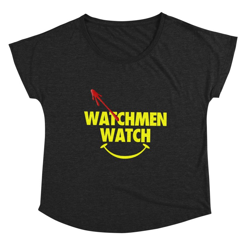 Watchmen Watch - Yellow on Black Women's Scoop Neck by Comic Book Club Official Shop