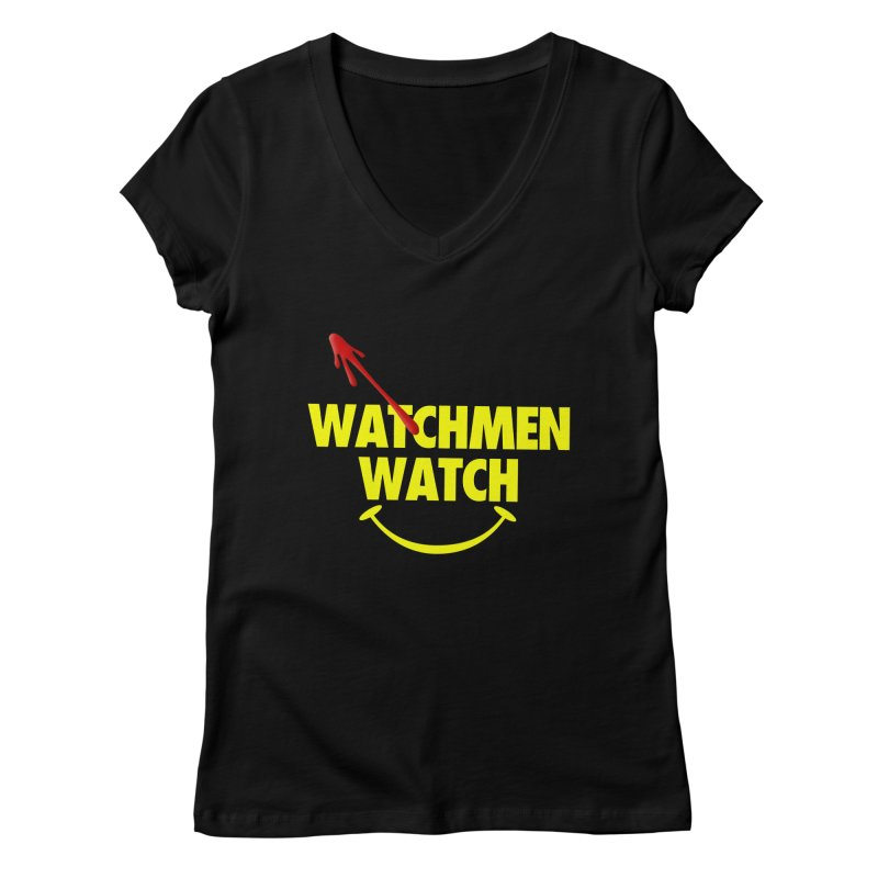 Watchmen Watch - Yellow on Black Women's Regular V-Neck by Comic Book Club Official Shop