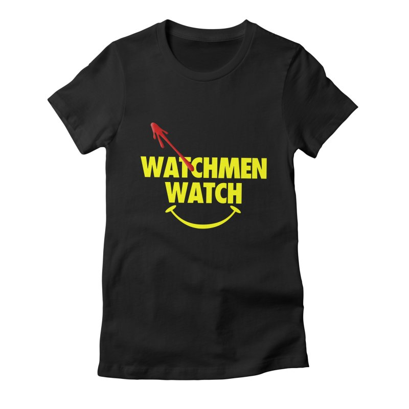 Watchmen Watch - Yellow on Black Women's T-Shirt by Comic Book Club Official Shop