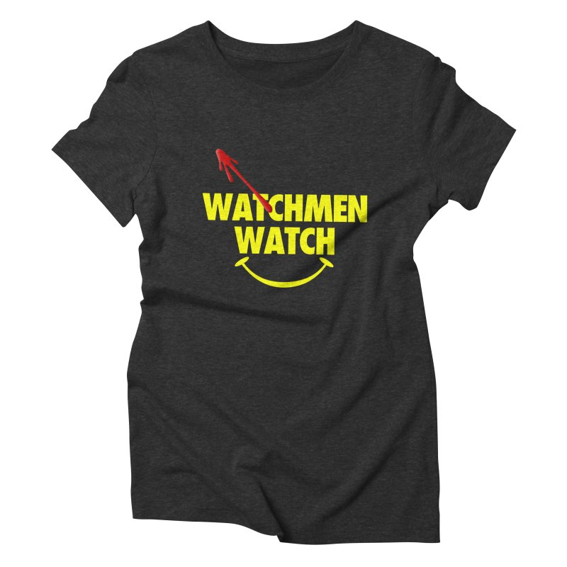 Watchmen Watch - Yellow on Black Women's Triblend T-Shirt by Comic Book Club Official Shop