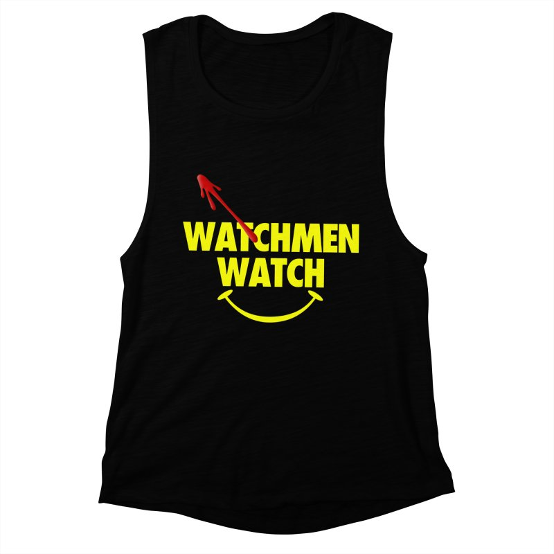 Watchmen Watch - Yellow on Black Women's Muscle Tank by Comic Book Club Official Shop