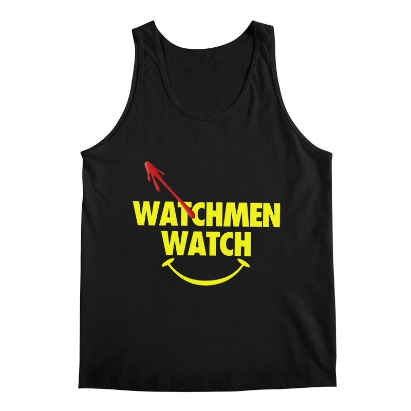 Watchmen Watch - Yellow on Black Men's Regular Tank by Comic Book Club Official Shop