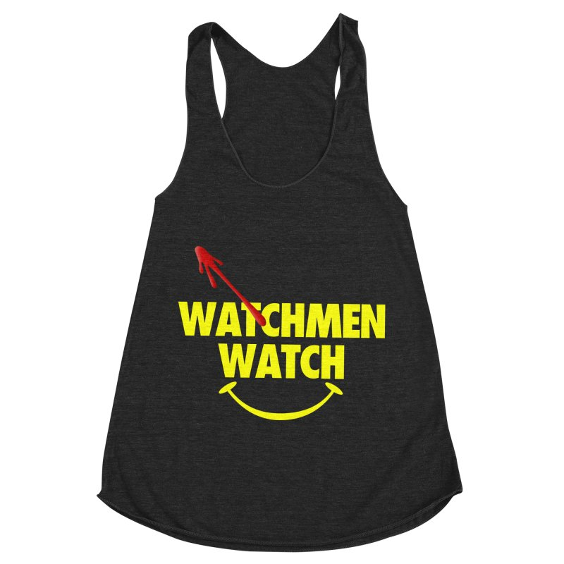Watchmen Watch - Yellow on Black Women's Racerback Triblend Tank by Comic Book Club Official Shop