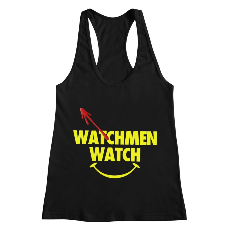Watchmen Watch - Yellow on Black Women's Racerback Tank by Comic Book Club Official Shop